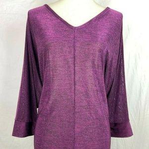 Lane Bryant Purple Shimmer Blouse Plus Size 14/16